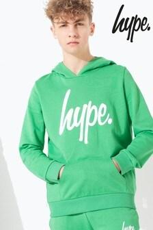 Hype. Green Script Kids Pullover Hoody