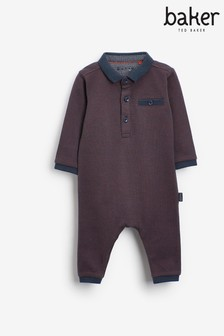 Baker by Ted Baker Baby Boy Textured Romper