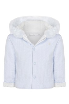 Baby Boys Pale Blue Knitted Jacket
