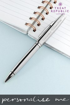 Personalised Cross Coventry Chrome Pen by Treat Republic