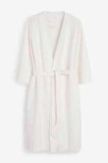 White Textured Robe