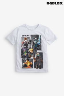 White Roblox Gaming License T-Shirt (3-16yrs)