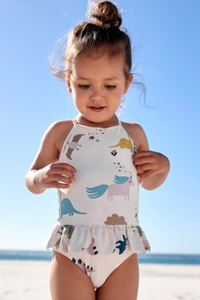 Cream Skirted Swimsuit (3mths-7yrs)