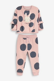 Pink Spot Bunny Co-ord Set (3mths-7yrs)