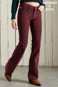 Superdry Mid Rise Slim Cord Flare Jeans
