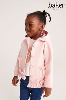 Baker by Ted Baker Younger Girl Pink Ruffle Jacket