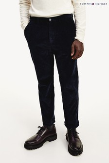 Tommy Hilfiger Blue Tapered Corduroy Chinos