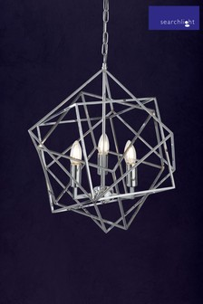 Culkin 3 Light Geometric Cube Pendant by Searchlight