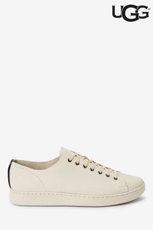 UGG® White Pismo Leather Trainers