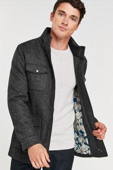 Charcoal Four Pocket Coat