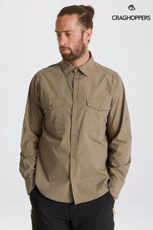 Craghoppers Grey Kiwi Long Sleeve Shirt