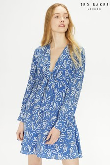 Ted Baker Blue Heidiee Modernity Printed Mini Dress