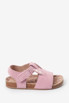Pink Bunny Leather Sandals (Younger)