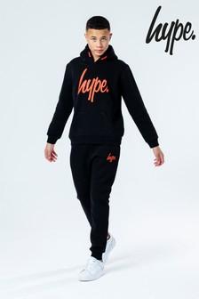 Hype. Black Overhead Hoody and Joggers Set