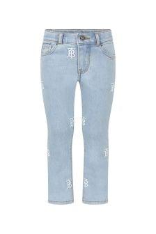 جينز قطن أزرقبناتي