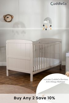 CuddleCo Julliet CotBed with CuddleCo Lullaby Foam Mattress Dove Grey