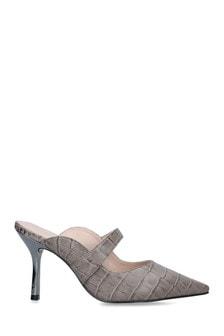 Carvela Grey Ablaze Heeled Court Shoes