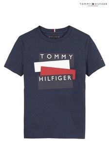Tommy Hilfiger Blue Flag Sticker T-Shirt