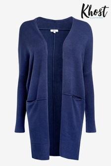 Khost Blue Longline Cardigan