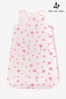 Noé & Zoë Neon Pink Stars Sleeping Bag