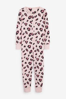Pink Animal Jersey All-In-One With Poppers (3-16yrs)