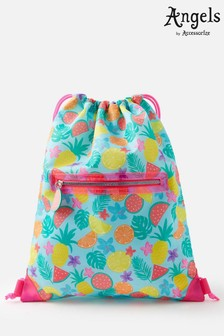 Angels By Accessorize Blue Fruit Print Drawstring Bag