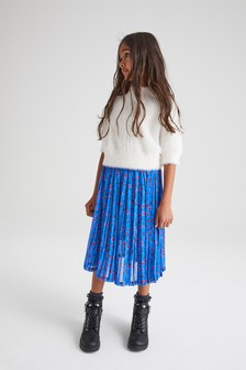 Cobalt Pleated Skirt (3-16yrs)
