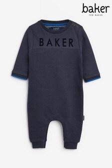 Baker by Ted Baker Navy Ottoman Romper