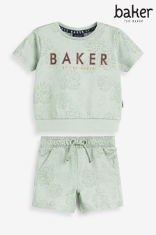 Baker by Ted Baker Yellow Sweatshirt And Jogger Set