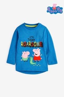 Blue Long Sleeve Peppa Pig™ T-Shirt (3mths-8yrs)