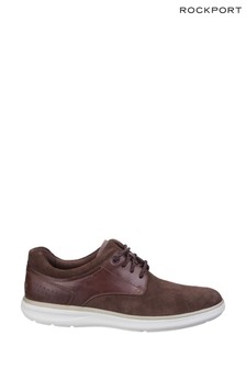 Rockport Dark Tan Zaden Pointed Toe Blucher Shoes