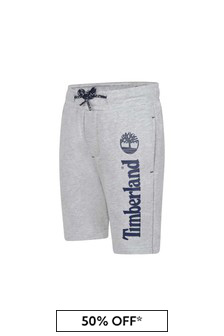 Boys Grey Fleece Bermuda Shorts