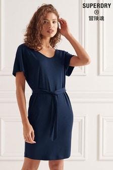 Superdry Tie Waist Mini Dress