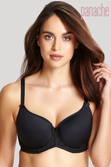 Panache Black Cari Moulded Spacer Bra