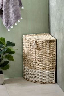 Woven Corner Laundry Basket