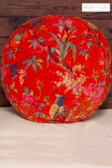 Paradise Round Velvet Cushion by Riva Home