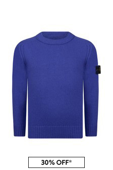 Boys Blue Knitted Jumper
