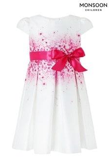 Monsoon Cream Baby Sakura Blossom Dress
