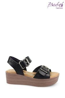 Blowfish Black Leeds Flatform Cushioned Sandals