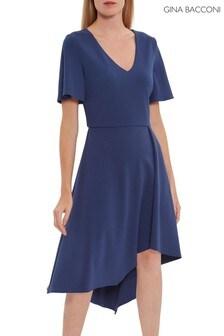 Gina Bacconi Blue Mylee Soft Stretch Crepe Dress