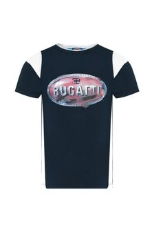 Bugatti Boys Navy Cotton T-Shirt