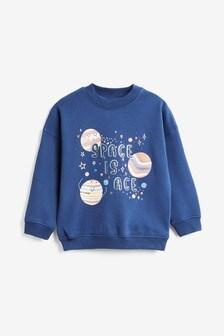 Blue Space Is Ace Sweatshirt (3mths-7yrs)