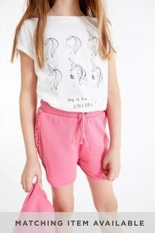 Pink Jersey Shorts (3-16yrs)