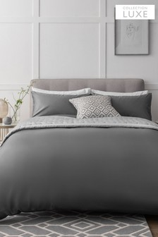 Collection Luxe 400 Thread Count 100% Egyptian Cotton Duvet Cover And Pillowcase Set