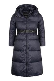 Girls Navy Padded Coat