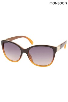 Monsoon Brown Kansas Classic Preppy Sunglasses