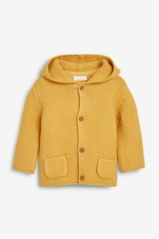 Ochre Hooded Cardigan (0mths-3yrs)