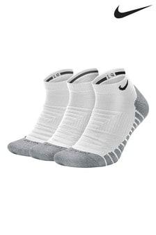 Nike Adult White Cushioned Trainer Socks Three Pack