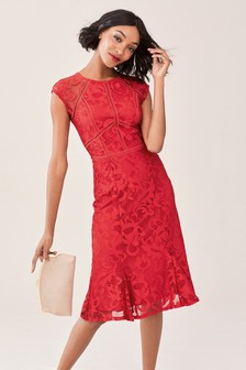 4100140bd200 Red Lace Bodycon Dress ...