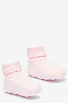 Pink 2 Pack Booties (0-18mths)